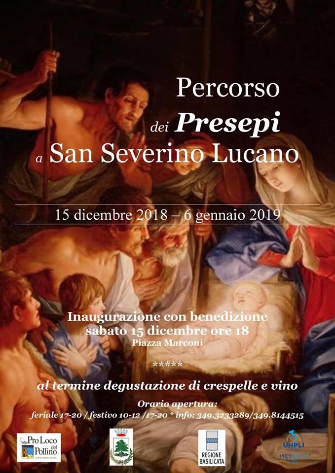 percorso dei presepi A San Severino Lucano 2018 dic al 6 gennaio 2019