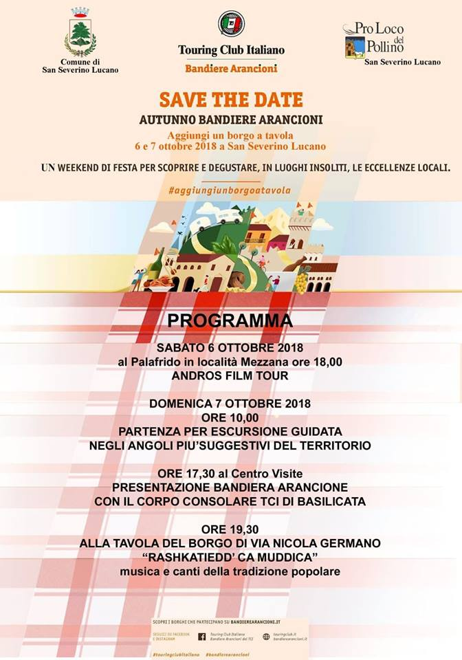 save the date autunno bandiere arancioni